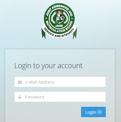 Login to JAMB Admission portal